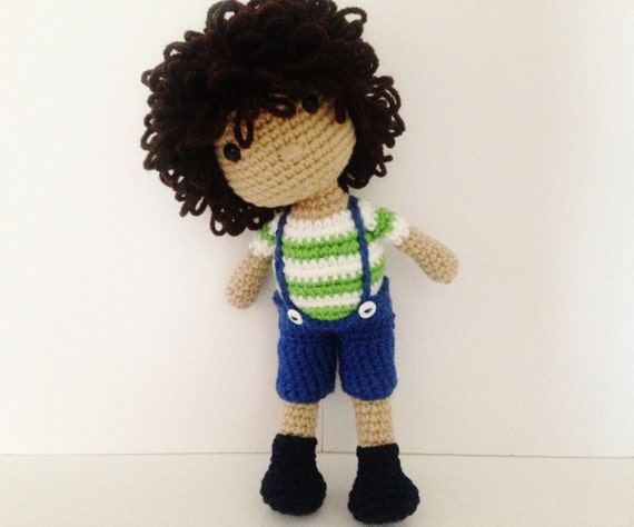 Crochet Boy Doll / Amigurumi Boy Doll Toy 12 In by ...