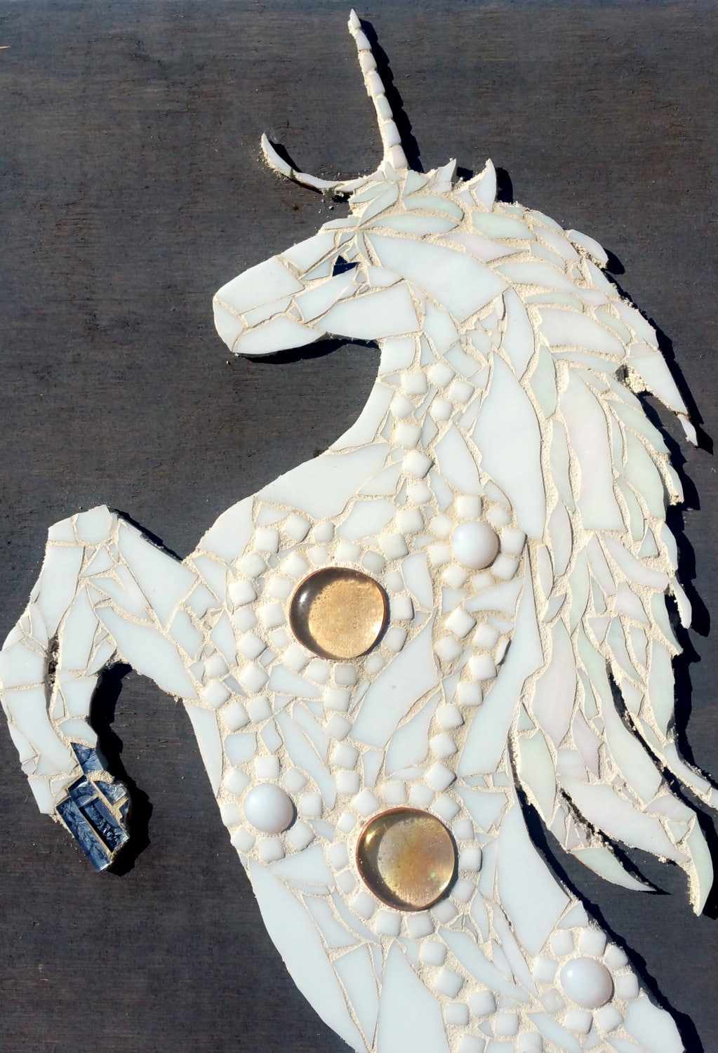 Whimsical Unicorn Wall Art Large Stained Glass By Samahstudios