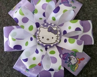 NEW! Purple Hello Kitty Hair Bow or Headband