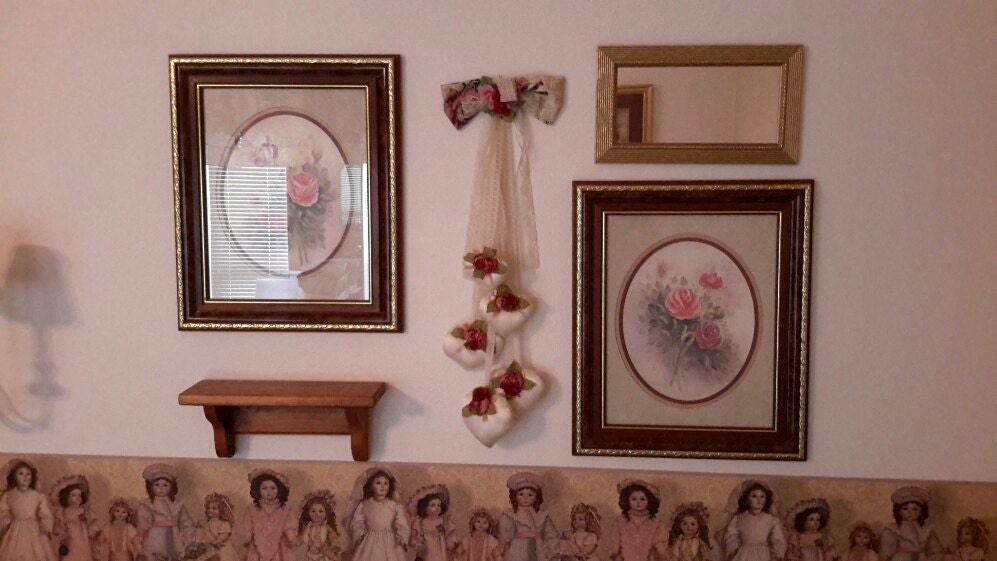 Homco Home Interiors Framed Floral Prints By Ourvintagenest