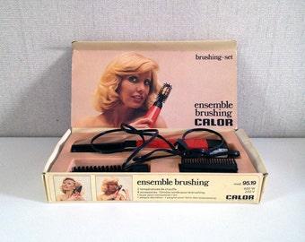 Vintage Calor hair dryer - Hairstyling set - Brushing Set
