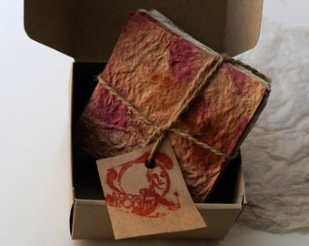 Hand-made Paper, Boxed,100%natural fiber paper 20 assorted sheets.