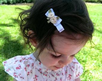 Small Rosette Baby Hair Clip