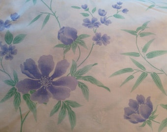 Vintage Dan River floral twin flat sheet