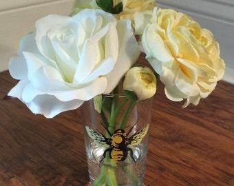 Ranunculus and Rose in Bee Vase