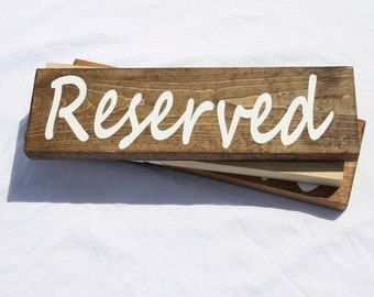 Reserved Sign, Hanging Reserved Sign, Wedding Sign, Seating Arrangement Sign, Rustic Wedding, Sign, Reserved, Wedding, Seating Arrangement