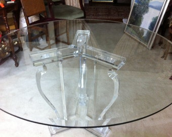 Gorgeous Glass & Lucite Dining Table