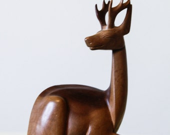 Bali Wood Carving | Stag | Statue | Figurine |