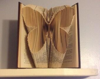 Folded Book Art Butterfly