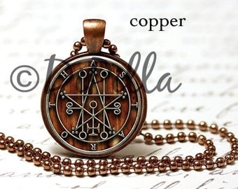Seal of Astaroth Sigil Pendant in Bronze or Copper with Matching Chain