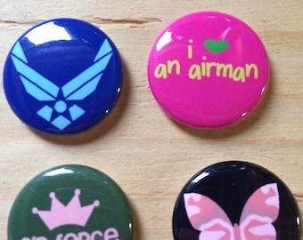 Set of 4 USAF magnets