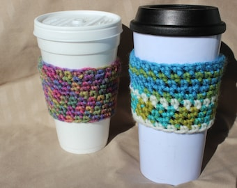 Coffee Cup Cozy, Cup Sleeve, Cozy with grip strip