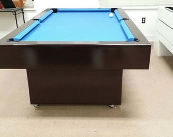 7Ft Billards Pool Table with caster wheels legs  !