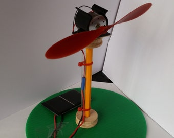 Solar powered model wind farm kit