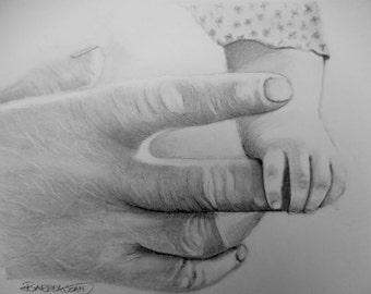 Pencil Drawing, hands pencil drawing, original pencil drawings