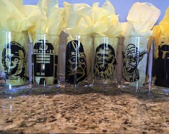 Set of 6 Personalized Star Wars Beer Mug - Wedding Favor Gifts