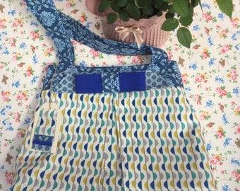 Floral Bow Handbag/Shoulder Bag - designer 100% cotton fabric