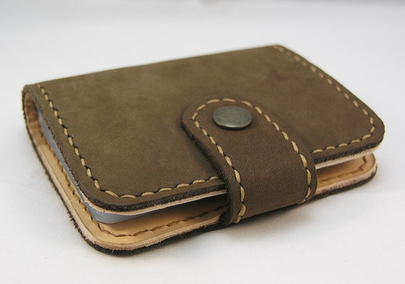 Items Similar To Credit Cards Holder Card Wallet Nubuck Leather Card Holder For Him For Her