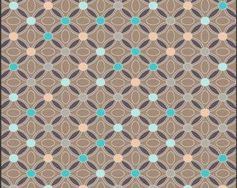 Cotton Fabric by Art Gallery Fabrics Revive Cocoa Restful Medallions RE8727