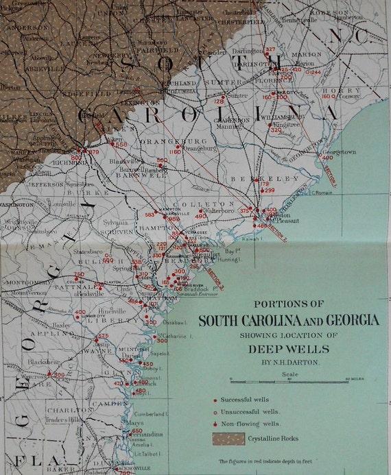 1896 South Carolina And Georgia Coast Underground Waters