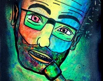 Ari Shaffir, from THE WISE GUYS series. original art