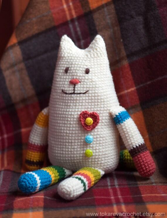 Crochet Toy Pattern. Crochet cat. Amigurimi Cat. Amigurumi ...
