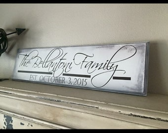 Family established Wood Sign -Personalized family Wood Sign -  Personalized Sign - Wedding gift - Anniversary gift