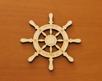 Steering wheel - blank for crafts - scrapbooking - coaster - mug mat - mug stand