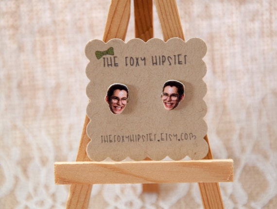 Bill Haverchuck Stud Earrings, gift idea, cool jewelry, unique,quirky, freaks and geeks, nerdy