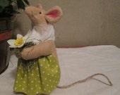 Mother Garden Mouse - Folk Art/Handmade