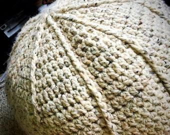 Crocheted Floor Pouf