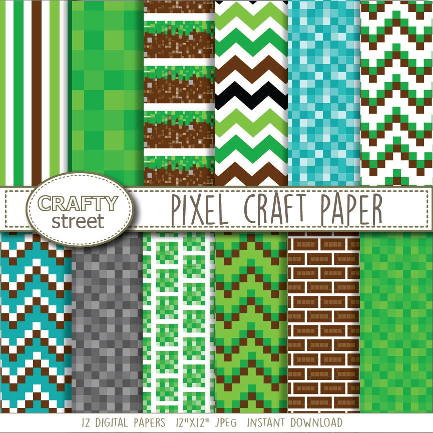 Pixel Craft Digital Paper Digital Paper Birthday Digital