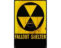 Reproduction Fallout Shelter Sign