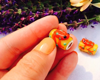 Frog Charms, Animal Totem, Frog Totem, Colorful Charms!
