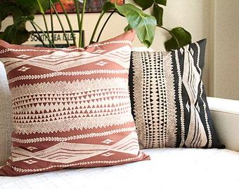 Hawaiian cushion cover,tapa tatoo, black ,brown,polynesia,HNLS02222