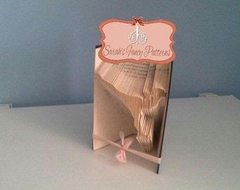 Ice Skater - Book Folding Pattern