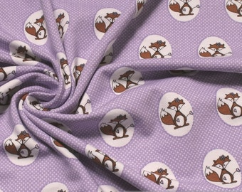 Fabric for children cotton elastane single jersey lilac fox