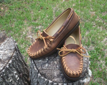 Women's size 6 Hand-Laced Moccasin w/Campmoc sole