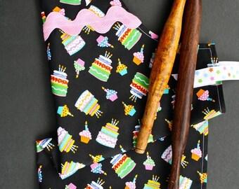 Birthday Cake Girl's apron. Handmade.