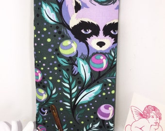 Glasses Case, RARE Acacia Tula Pink Raccoon Fabric, Eyeglasses Case, Sunglasses Case, Eyeglasses Pouch, Slip Style