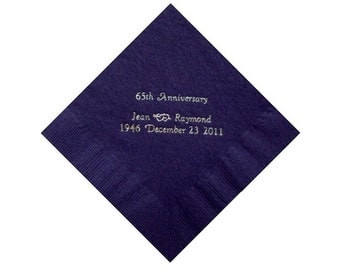 50 Anniversary Personalized Beverage Napkins