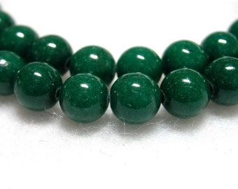 4mm Green Beads Forest Green Mountain Jade Dark Green Stone Round Beads 98-100 4mm Green Stone Beads Jade Rounds 16 Inch Strand Forest Green