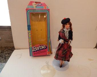 Vintage International Scottish Barbie  3263 Mattel 1980