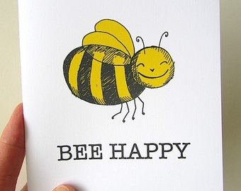PDF Love Card.  Anniversary card. Downloadable Valentine card.  Yellow and Black. Happy Bee.  Bee Happy. You Got Me, Babe.  Stay in Touch.