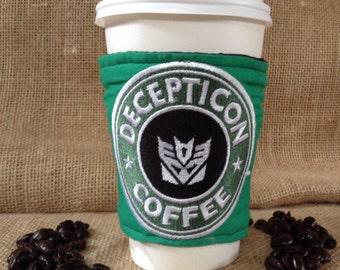 Decepticon coffee sleeve