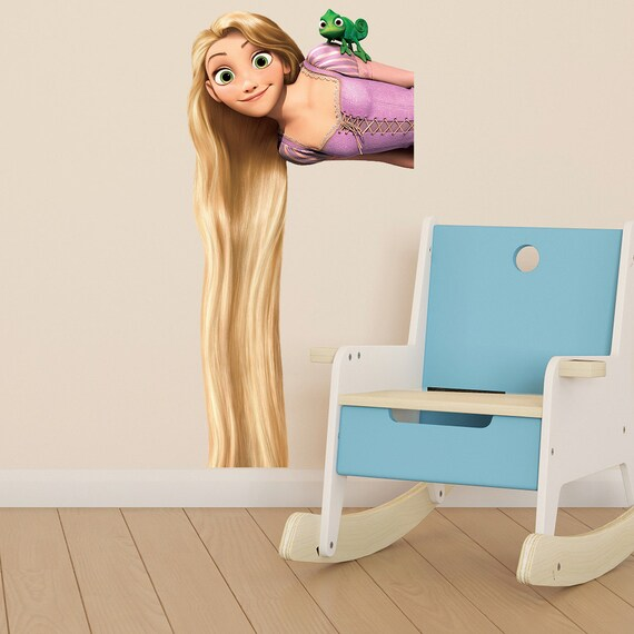 tangled rapunzel kids girls bedroom colour vinyl decal wall sticker