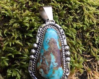 Boulder turquoise pendant