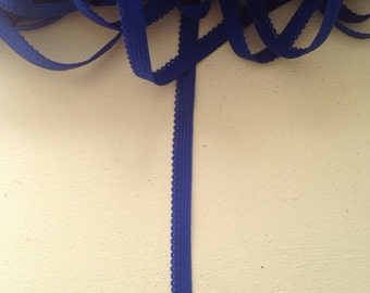 30m Royal Blue Picot Edge Knicker Elastic - 7mm wide