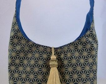 Blue tassel bag