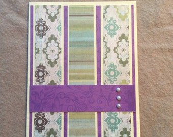 Purples and Greens Card